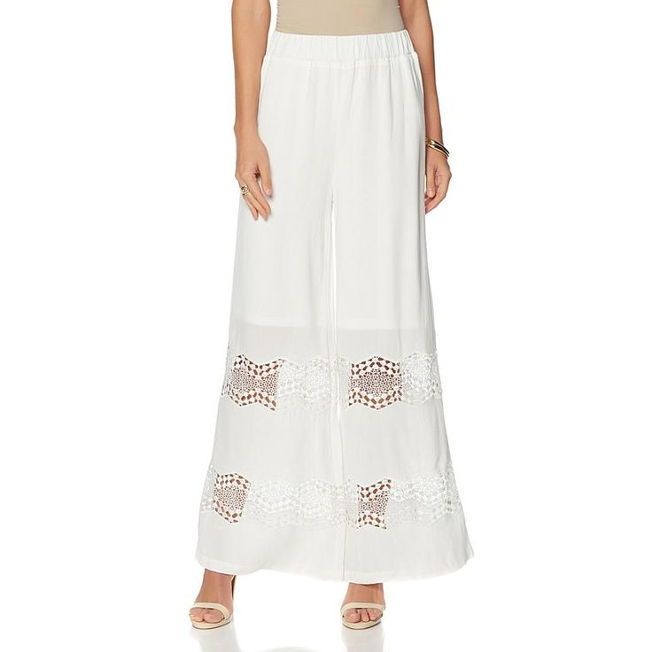 Colleen Lopez Sunny Coast Lace Pant - Star White
