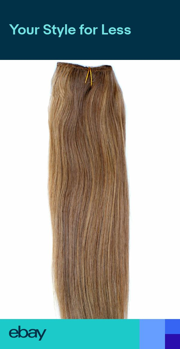 DOUBLE WEFT Caramel Brown Human Hair Extension Weft Full Head #10