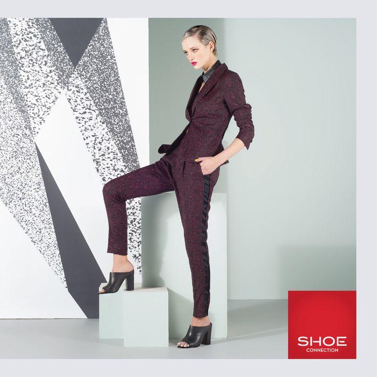 Shoe Connection Spring Summer 14/15 Campaign. Androgynous - Mules - Suit. Shop: http://www.shoeconnection.co.nz/