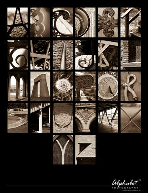 Alphabet Photography Poster.