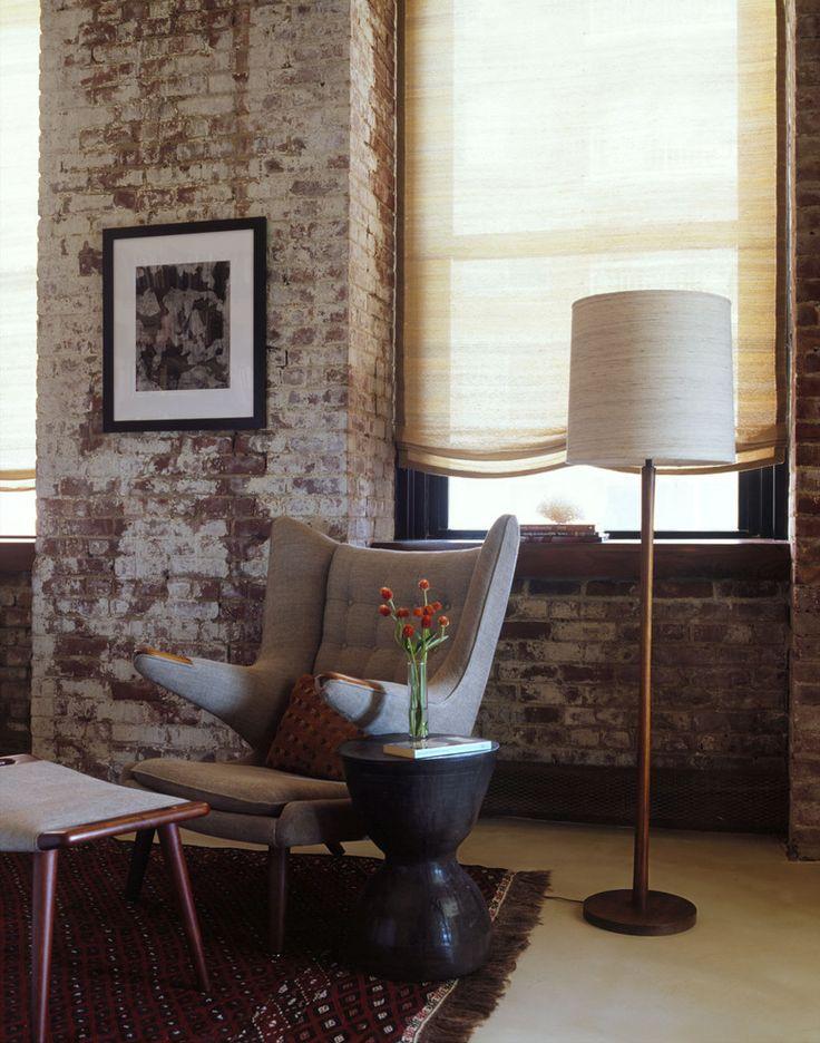 Moderne look met een stenen muur #stenen #muur | piet klerkx
