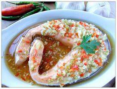 A taste of memories -- Echo's Kitchen: Simple tasty Thai Style Garlic Steamed Fish