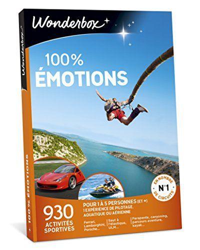 WONDERBOX – Coffret cadeau – 100% EMOTIONS: Vous adorez quand votre cœur bat à 100 à l'heure? Alors, aucun doute: ce coffret cadeau est…