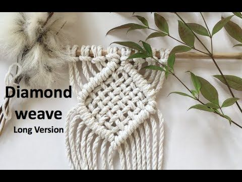 (50) Learn how to create a diamond weave in macrame - YouTube