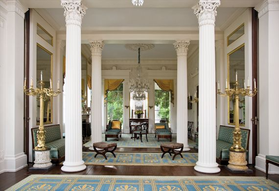 Double parlor at milford plantation life style for Plantation style interior design