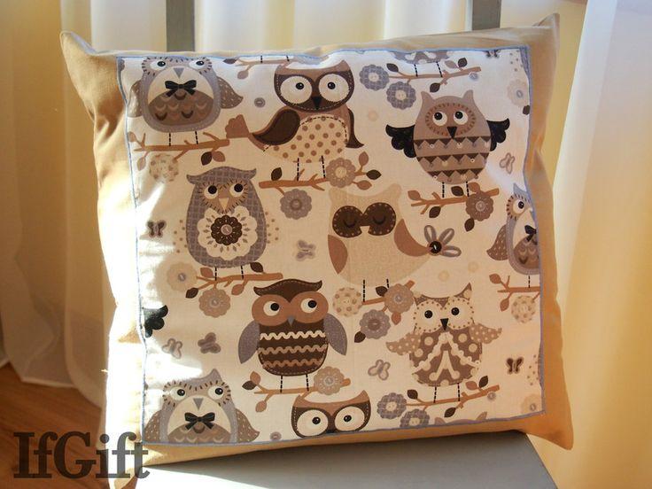 duża poduszka w sowy w IfGift na DaWanda.com