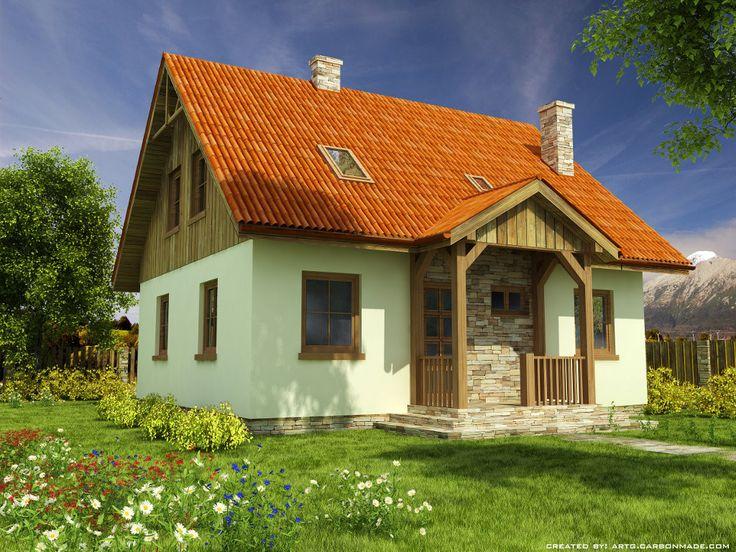 projekt Domek Ciepły szkielet drewniany 012 SK V1