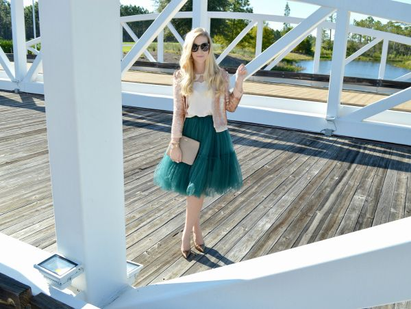 Sequin Jacket by Paper Crown and Tulle Skirt