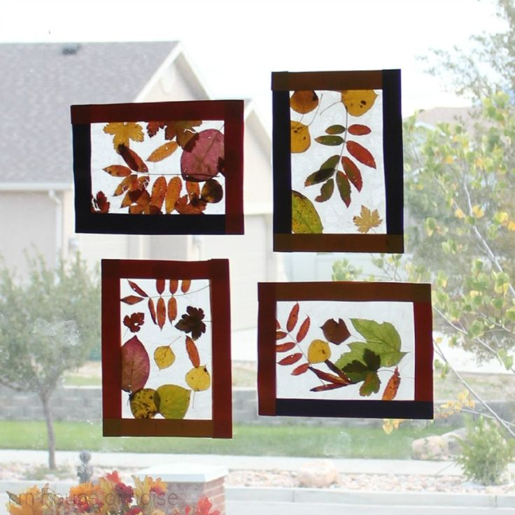 Kids Craft: Fall leaf stained glass.