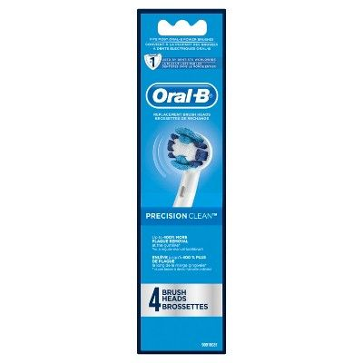 Oral-B Precision Clean Replacement Electric Toothbrush Head - 4pk