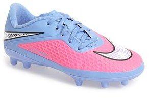 Nike 'Hypervenom Phelon FG' Soccer Cleat (Toddler, Little Kid & Big Kid)