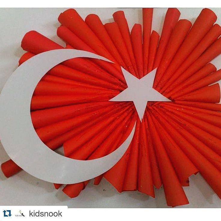 Mersinli bir resim öğretmeni hazırlamış bu çalışmayı....Sanat insana farklı bakabilmeyi öğretiyor... Kültür-Sanat-Edebiyat ile daha çok iç içe bir Cumhuriyet diliyorum ülkeme @kidsnook  #29ekim #cumhuriyetbayramı #türkiye #ankara #istanbul #izmir #yaşasın #bayram