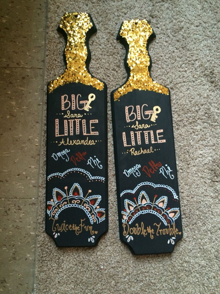 Twin sorority paddles