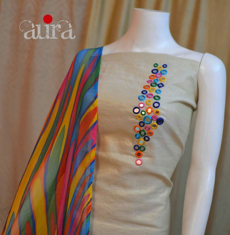 New simple hand embroidery dress designs makaroka
