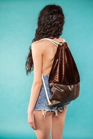 "Gym Bag ""Brown Velvet""  49 EUR"