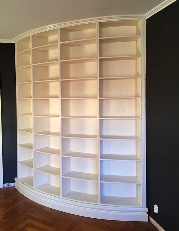 boklandskap: Att bygga en rund bokhylla