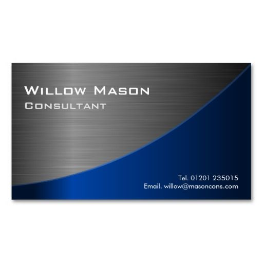 295 best blue and steel business cards images on pinterest black blue stainless steel curved business card flashek Images