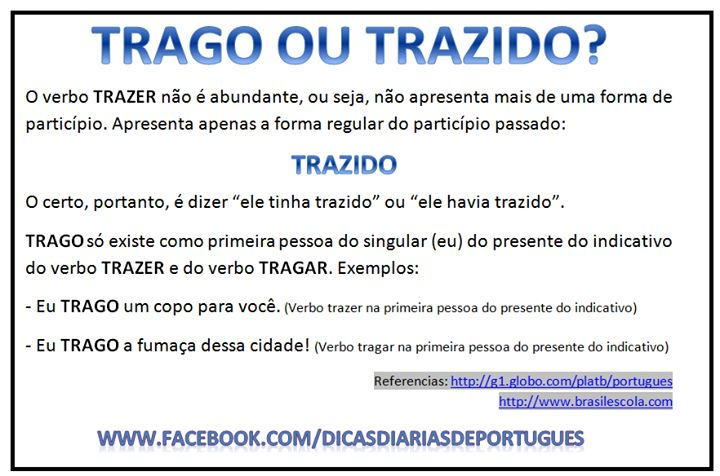 Dicas de Língua Portuguesa!                                                                                                                                                      Mais