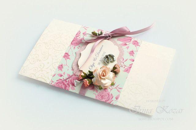 Wedding money holder : Свадебный конверт для денег: The inside design is pretty simple, with no frills - just a little p...