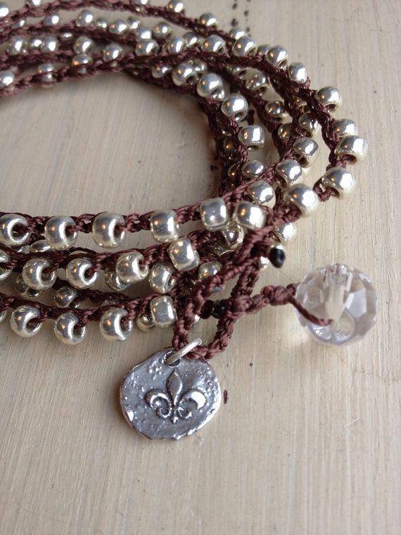 Bohemian style shabby chic silver beaded by MarleeLovesRoxy