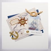 Vintage - Shabby Chic|Ship Ahoy Birthday Card and only £3.95