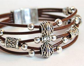 La Bohème perles Bracelet en cuir ou bracelet par SeaRanchJewelry