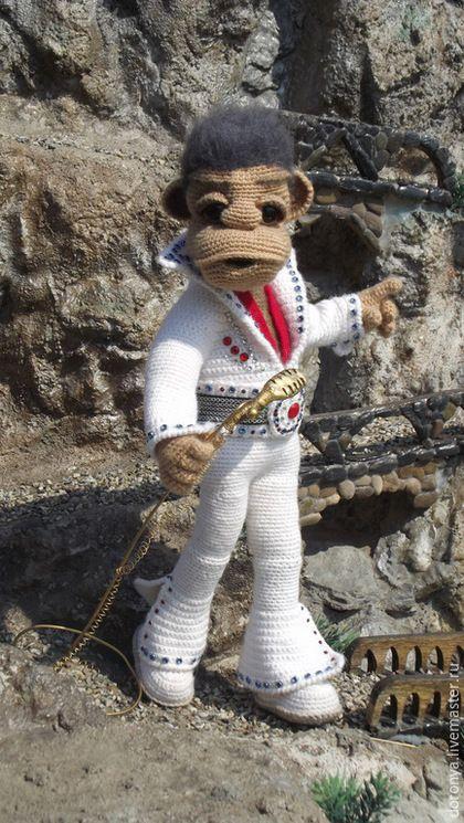 Портретные куклы ручной работы. Ярмарка Мастеров - ручная работа. Купить Музыкант,Элвис  Пресли, игрушка кукла. Handmade. Белый