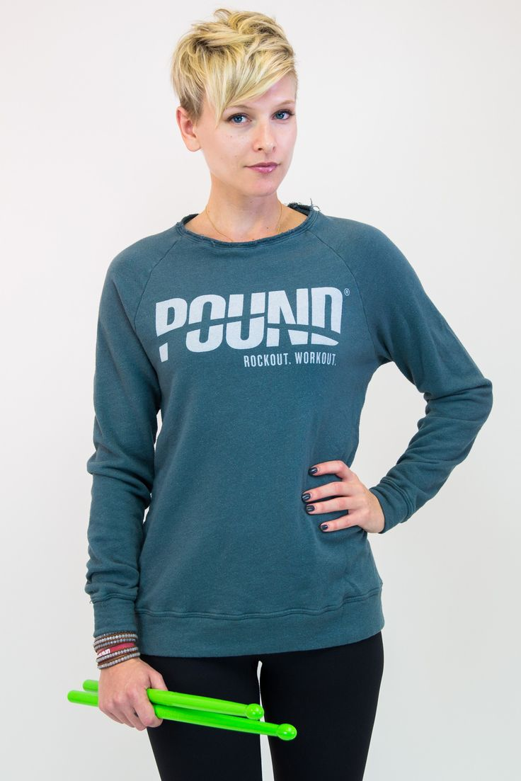 7 best pound rockout images on pinterest exercises fitness and classic logo raglan sweatshirt from pound rockout workout xflitez Images