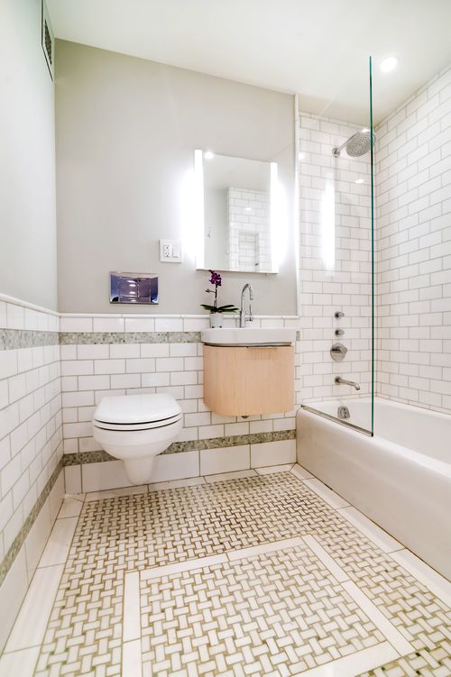 Basketweave Tile Small Bathrooms Green And White Bathrooms Thassos Subway Tile Duravit