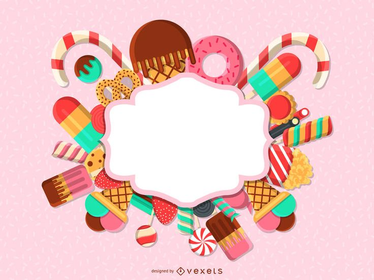 nice candies and sweets rectangular badge label surrounded with lollipops  cho u2026