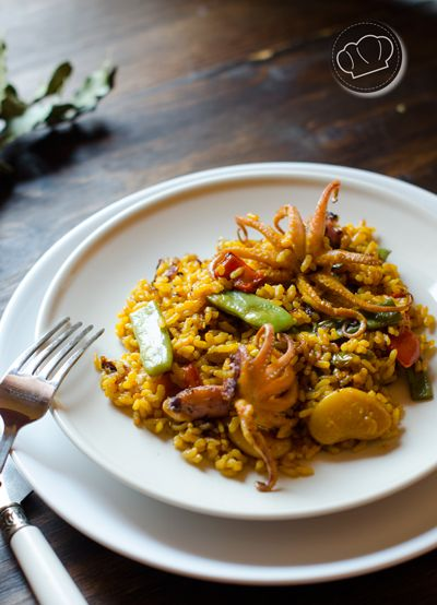 receta de arroz con pulpitos // rice and little octopus recipe (in spanish)