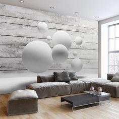 Vlies Fototapete 400x280 cm ! Top - Tapete - Wandbilder XXL - Wandbild - Bild - Fototapeten - Tapeten - Wandtapete - Wand - Holz Kugel 3D f-A-0322-a-a