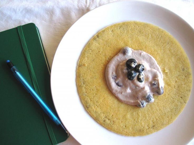 Crepe de Ricota e Mirtilo (Bimby) - Sem amendoim/frutos de casca rija, Sem chocolate, Sem glúten, Sem mariscos ou moluscos, Sem peixe, Sem sésamo
