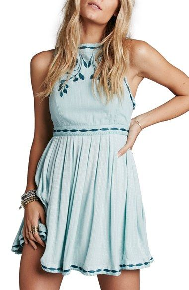 Free shipping and returns on Free People 'Birds of a Feather' Embroidered…