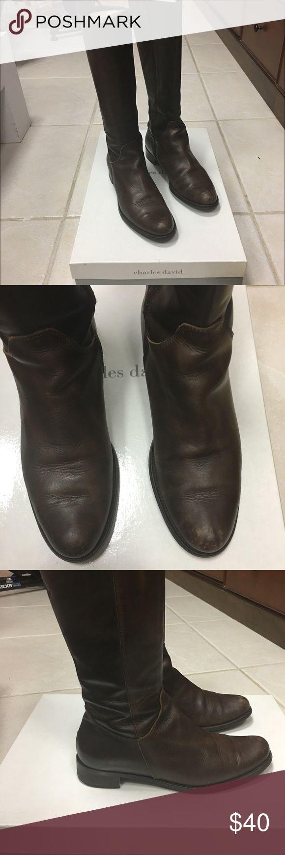 CHARLES DAVID - BOOTS CHARLES DAVID BROWN BOAOTS Charles David Shoes Winter & Rain Boots