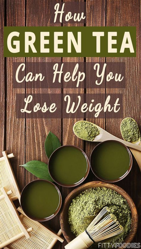 Green tea! We all love it and we've all heard about the benefits it has. But one super awesome thing about this tea that not everybody knows is that it helps a lot with weight loss! You can read more about it in this blog post.