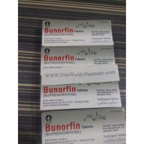 Bunorfin (Buprenorphine) 0.2mg Burorfin, short for Buprenorphine, is an opioid kind of pain medication. An opioid is also commonly known as narcotic. The basic function of this drug is to restrain severe chronic pain and it is also used as a transdermal (skin patch). This drug will prove to be less effective if used just after surgery or for treating short-term occasional pain.   Price: $40.00