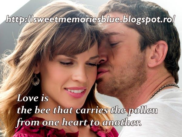 sweet memories: Love is the bee that carries the pollen from one h...