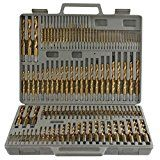 Power Tools 115pc Titanium Drill Bit Set w/ Index Case Number Letter Fractional $0 SHIPPING!