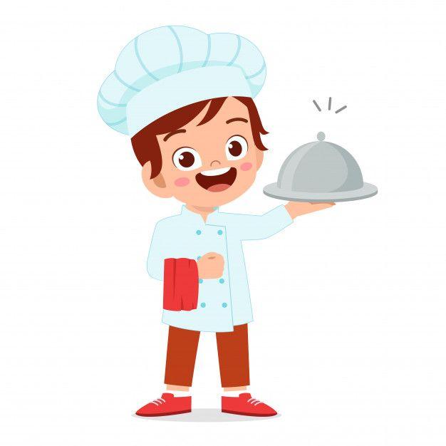 Nino Lindo Nino Feliz En Traje De Chef Premium Vector Freepik Vector Comida Happy Kids Cute Kids Cooking With Kids