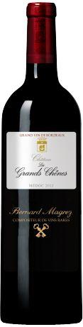 Château Les Grands Chênes Cru Bourgeois rouge 2012 - Médoc - 15,5/20 : Les Grands Chênes ont donné en 2012 un vin structuré et frais, modérément tannique, sur le fruit, mais avec une belle concentration  En savoir plus : http://avis-vin.lefigaro.fr/vins-champagne/bordeaux/graves/graves/d10377-chateau-les-grands-chenes/v10378-chateau-les-grands-chenes/vin-rouge/2012#ixzz38kdlcR8e