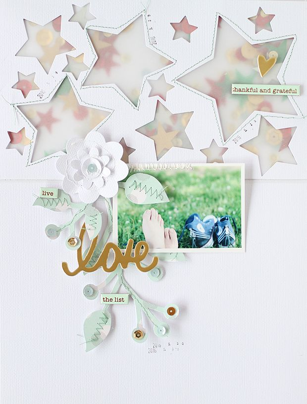 PHOTO + PAPER + STAMP = CRAFTTIME!!!: Star shaker window Scrapbooking (Sizzix)