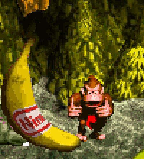 vgjunk: Donkey Kong Country, SNES. Good Job Everyone!