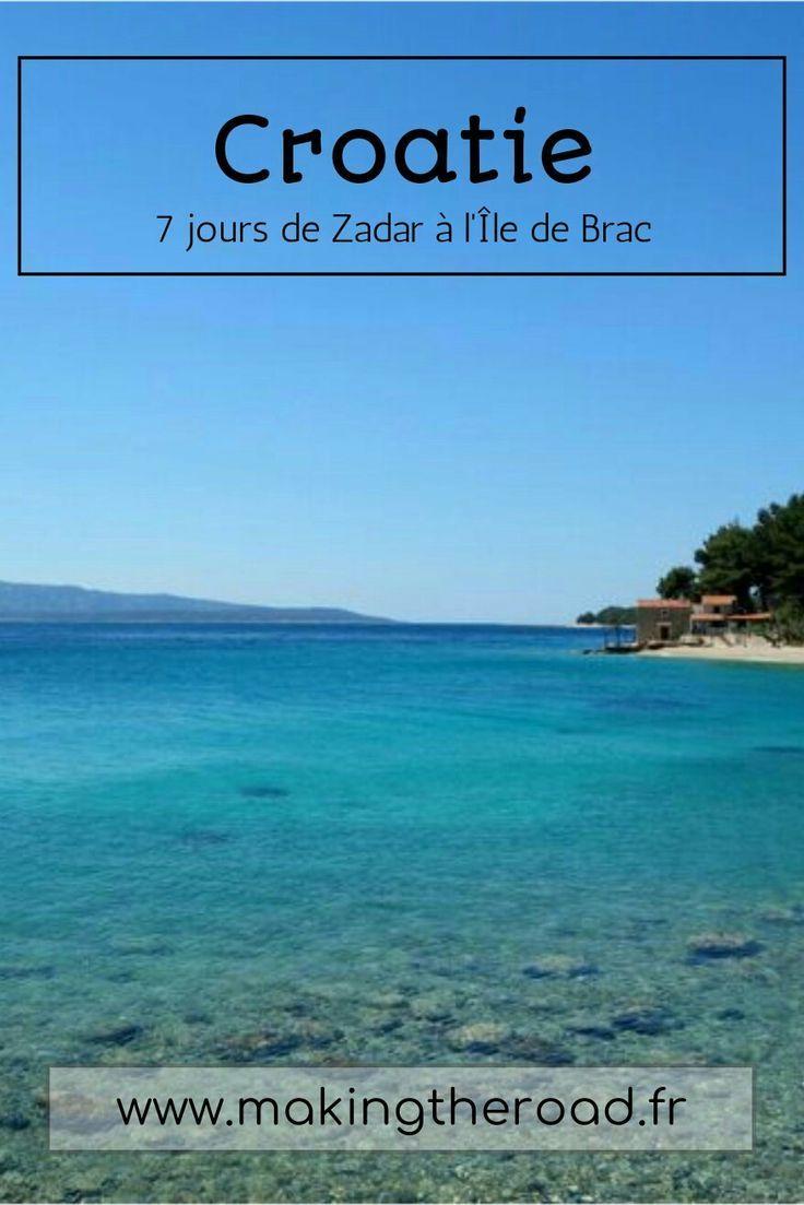 Voyage en Croatie, une semaine de Zadar à l'Île de Brac, en passant par Plitvice et Split. Conseils, itinéraire, bons plans et photos pour ce roadtrip à petit budget au printemps en avril de 7 jours (1 semaine).