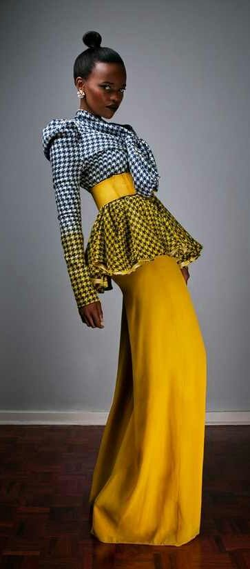 A creation by South African fashion designer David Tlale.
