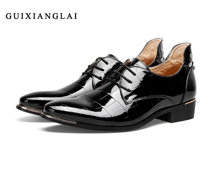 68.33$  Buy here - http://alie7e.shopchina.info/go.php?t=32744585858 - Handmade Genuine Leather Shoes For Men Pointed Toe flat shoes, Crocodile business dress Wedding Shoes Men oxfords Zapatos Hombre 68.33$ #buyonlinewebsite