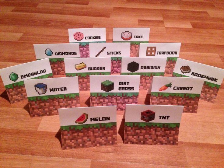 Minecraft Party, Minecraft Party Sign Tent Cards #minecraft