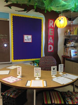 Guided reading table with net canopy tree!