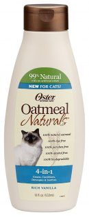 Oster 078590-765 Oatmeal Naturals 4-in-1 Cat Shampoo Plus