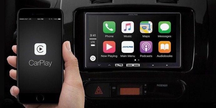 Alpine iLX-107 als Autoradio mit Wireless CarPlay